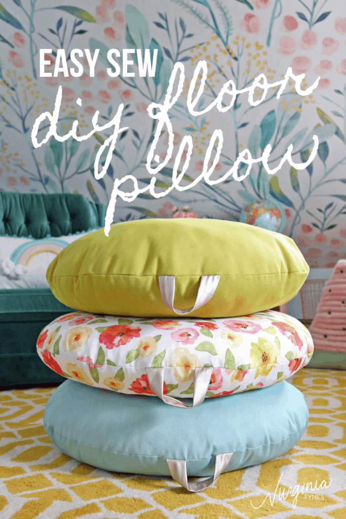 How to Sew a DIY Floor Pillow tutorial featured by top US craft blog, Fynes Designs: image of floor pillows
