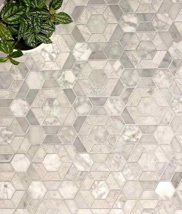 Bronson Mosaic Tile from Jeffrey Court | Jeffrey Court by popular US interior design blog, Fynes Designs: image of Jeffrey Court Bronson tile.