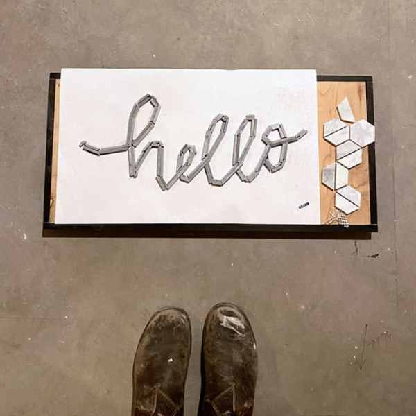 hello tile typography