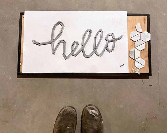hello tile typography