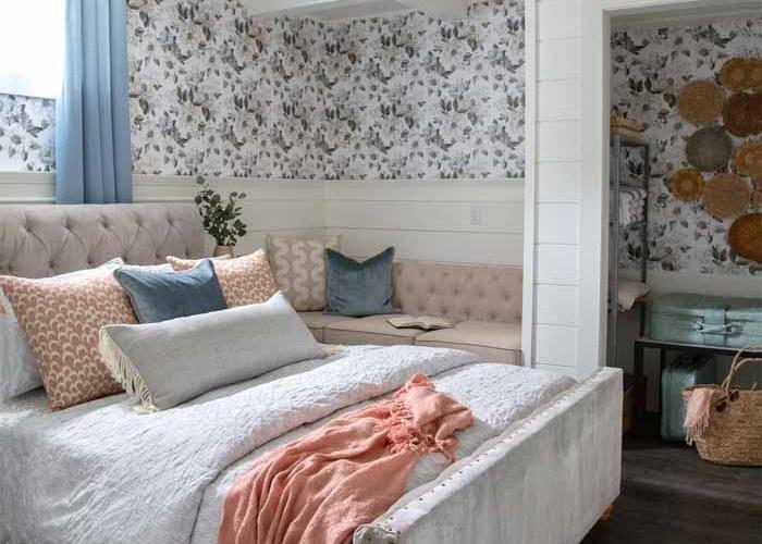 Basement vacation rental master bedroom