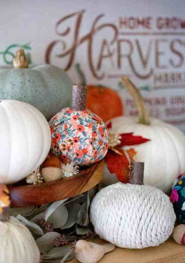 No-Sew Fabric Pumpkins to Make