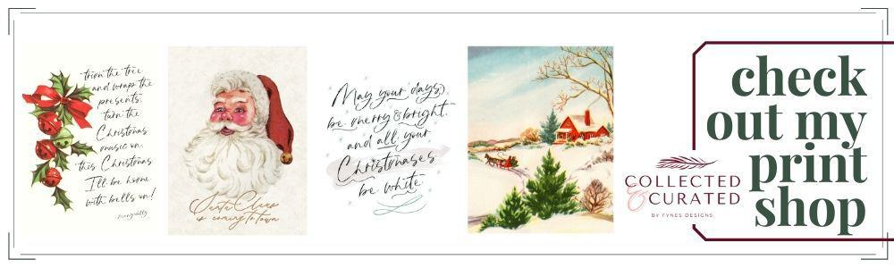 Collected and Curated holiday print collection