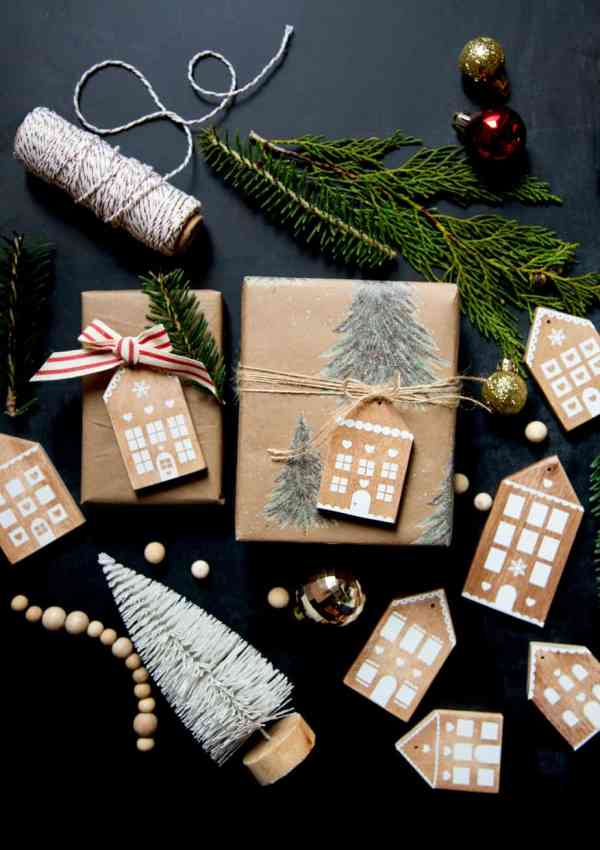 Gingerbread House Christmas Wood Ornaments