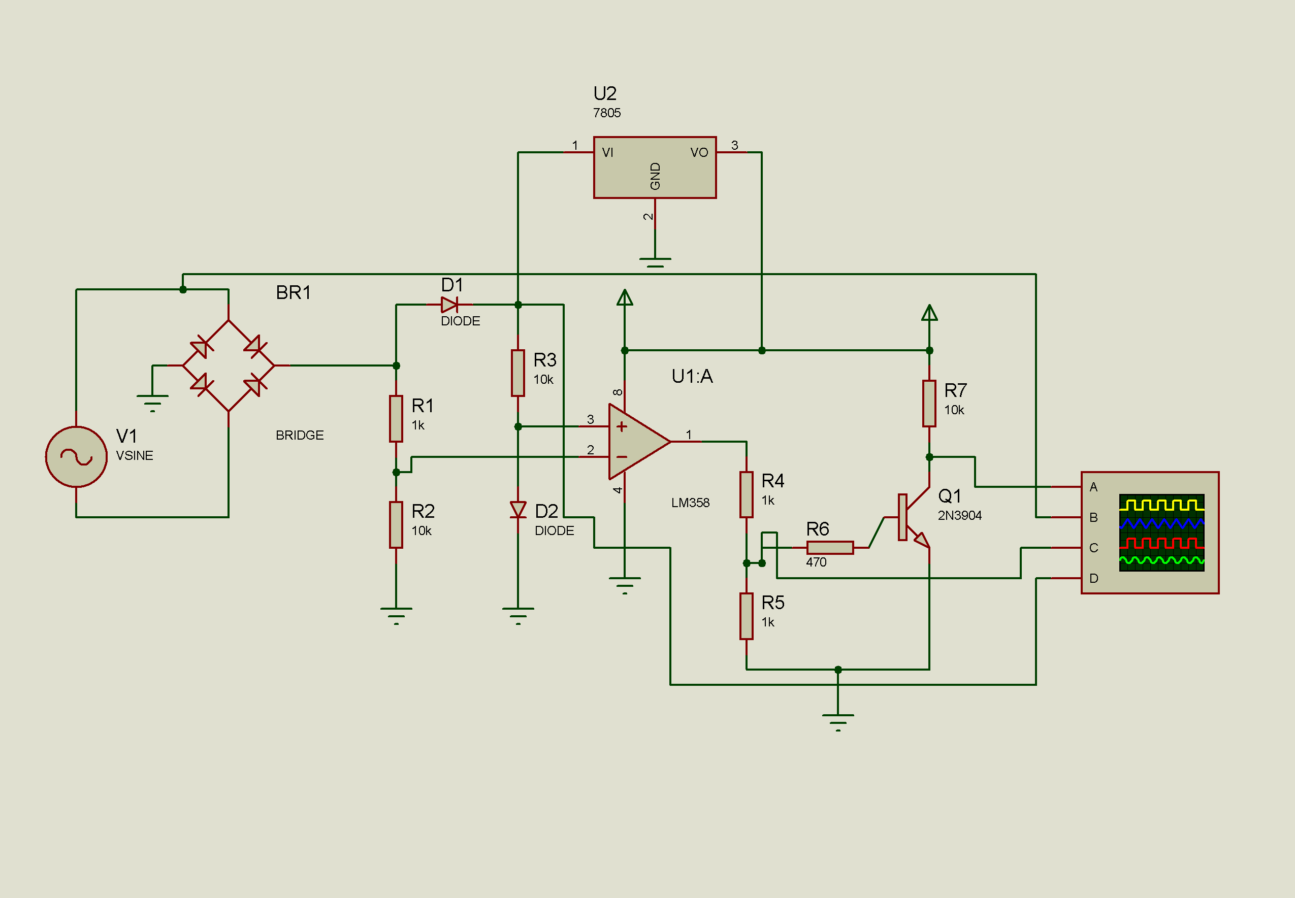 opamp based zero cross detector circuit