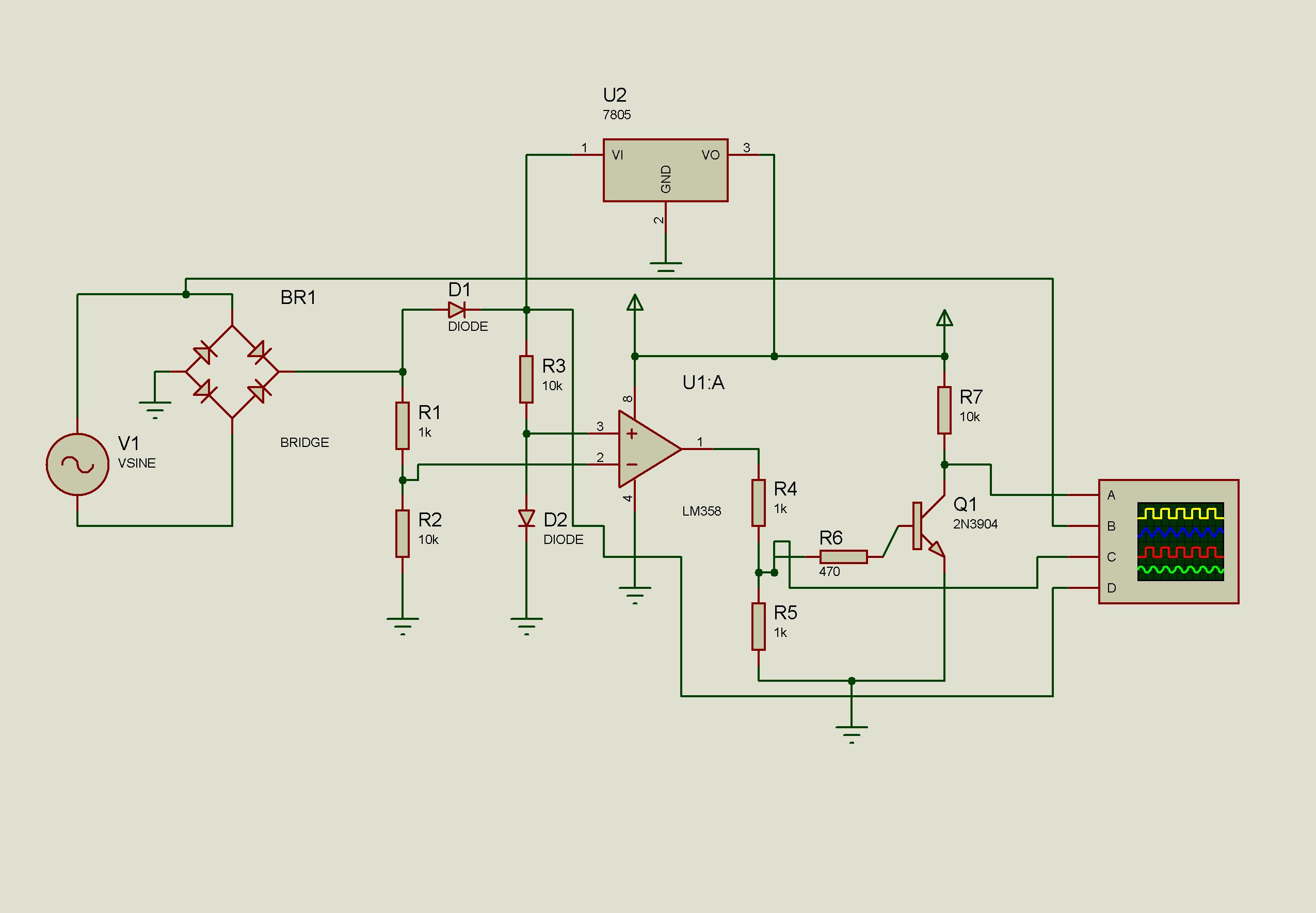 opamp based zero cross detector circuit