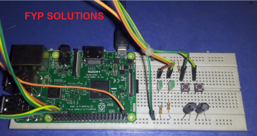 breadboard demo for rpi gpio input