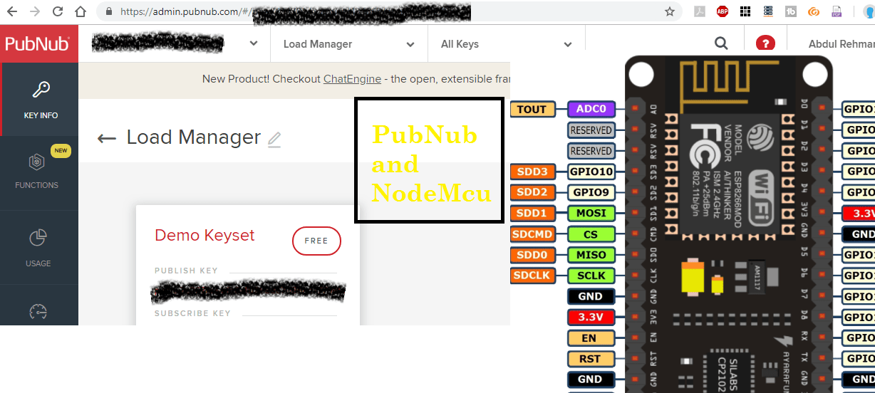 pubnub and nodemcu