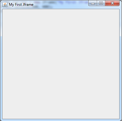 Empty Jframe window