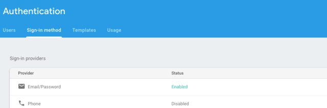 Firebase Sign-in Enable
