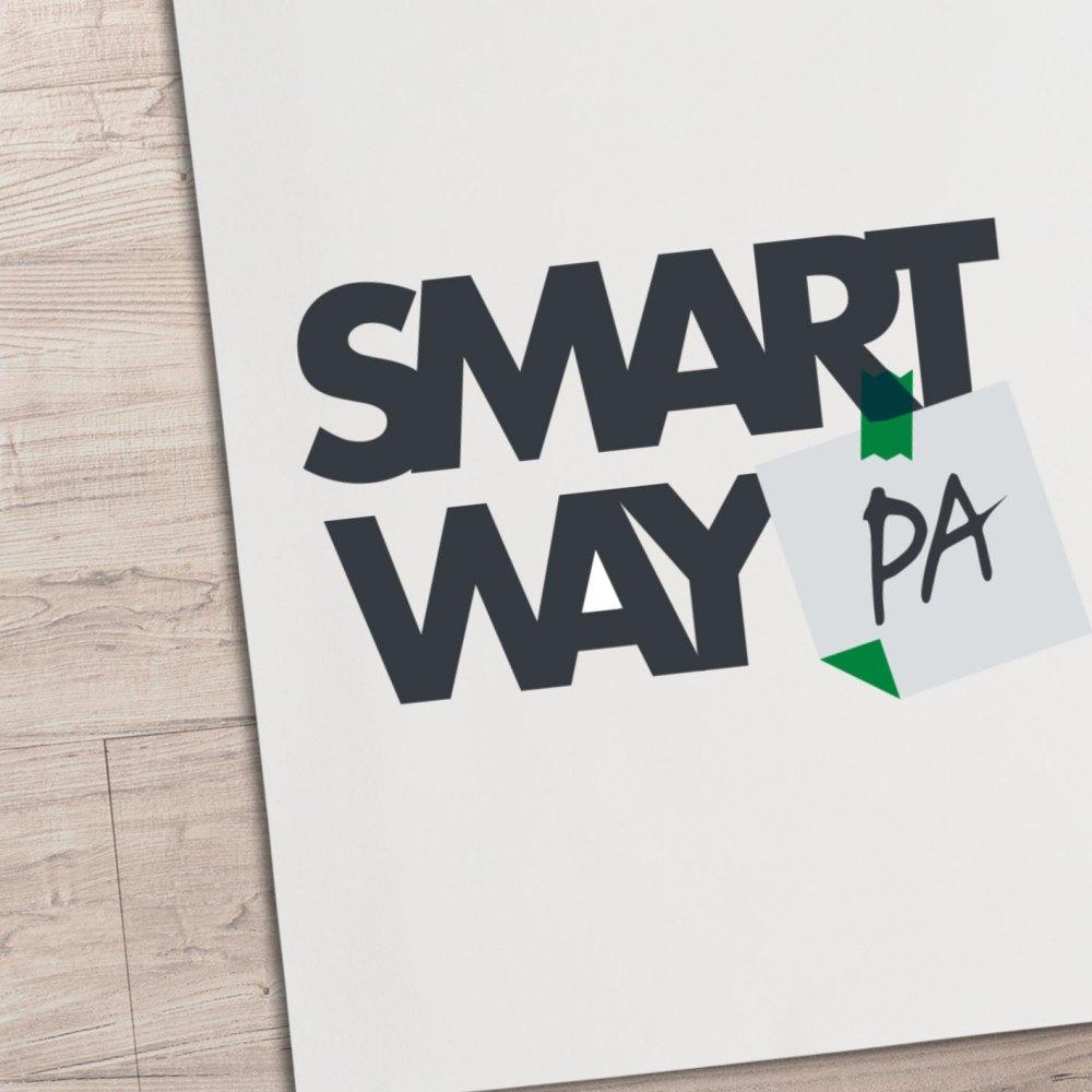 SmartWayPA: Logo Design and Business Card Design