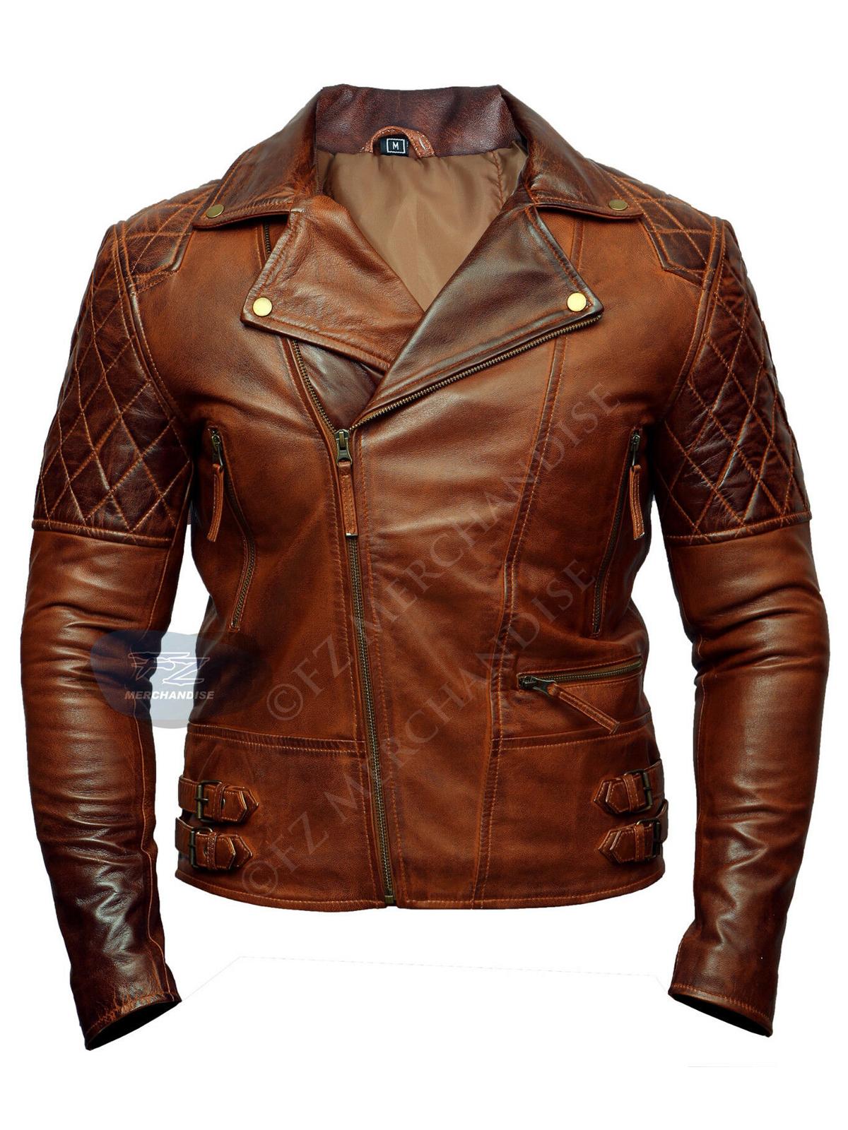 Copper brando Cafe Racer Brown Leather Jacket
