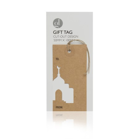 Mosque Arabesque Cut Out Gift Tag