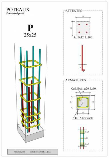 Plan De Structure Bton Arm Bureau Dtude Du Btiment
