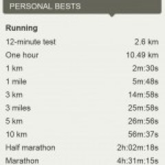 Personal Bests