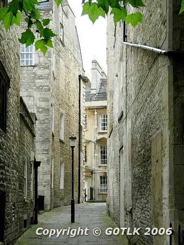 Stone buildings and alley