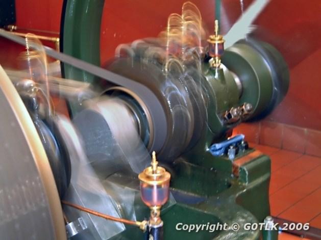 Blurred motion steam engine