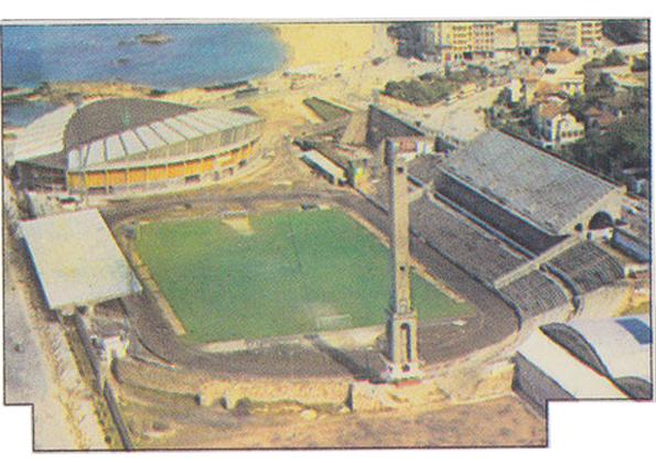 Estadio de Riazor en la década de los 70