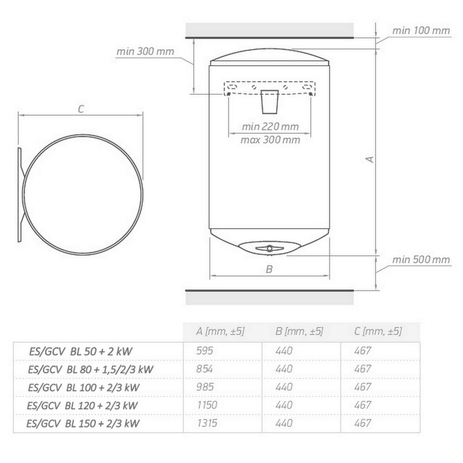 Elektro Warmwasserspeicher Boiler 30 50 80 100 120 150 L Liter 2 Fach Emaillier