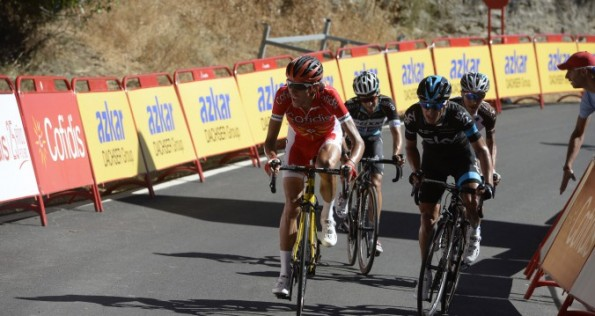 Stephane on stage 2 Vuelta a Espana 2015 (image: Cofidis)