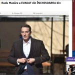 """ALERTĂ Poliția Română, despre pretinsa evadare a lui Radu Mazăre: """"Nu s-a primit nicio informare oficială în acest sens"""""""