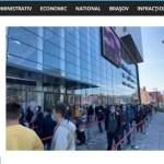 Coadă imensă la deschiderea unui nou mall în Brașov. Apelul autorităților, ignorat