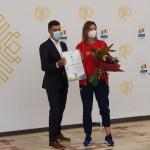 """VIDEO Spadasina Ana Maria Popescu, critici dure către ministrul Sportului Eduard Novak, la revenirea în țară de la Tokyo: """"Credeam că mă așteptați cu cecul de 5 milioane de lei"""""""