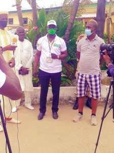 Les représentants du bureau exécutif de l'ONG TAKHAWOU ASKANE-Wi lors de la visite à la prison centrale de Libreville