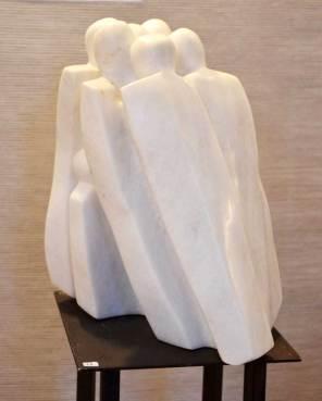 PRIX DE L'EXPRESSION ARTISTIQUE LOCALE : décerné par la Commission Culture de la Ville Marie-Noël BOREL pour la sculpture n°33 « En marche »