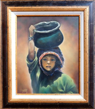 MEDAILLE DE L'ACADEMIE DE VILLEFRANCHE Colette GENESTY pour le n° 126 « Petite porteuse d'eau »