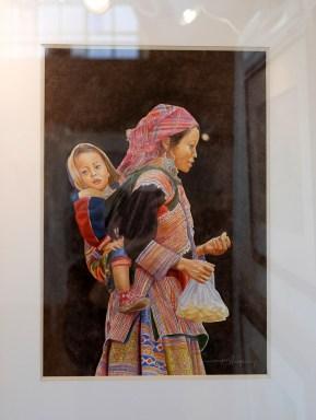 PRIX DE L'OFFICE DE TOURISME VILLEFRANCHE-BEAUJOLAIS Jacky AUGAGNEUR pour le n°9 « Jeune femme H'Mong n°2 »
