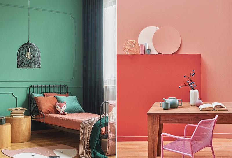· beige e marrone · giallo ocra e. Quali Pitture Moderne Scegliere Per La Tua Casa News Gabetti