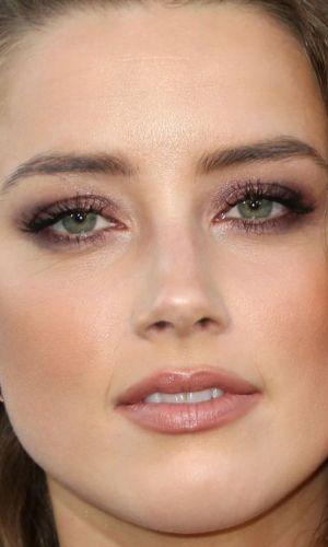 amber heard, maquiagem, beleza, batom, olho esfumado, beauty, makeup, inspiration