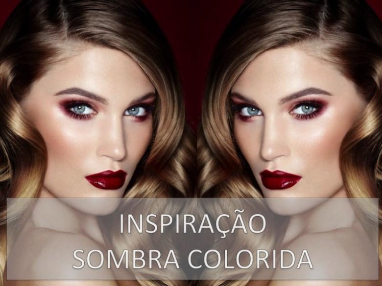 sombra colorida, tendência, maquiagem, beleza, colored eye shadow, trend, makeup, beauty