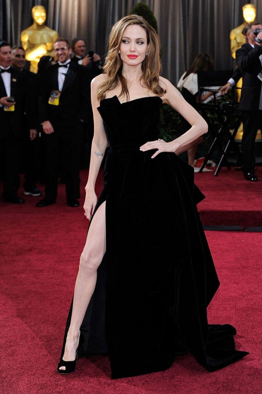 vestidos pretos icônicos, moda, estilo, inspiração, iconic black dresses, fashion, style, inspiration, angelina jolie