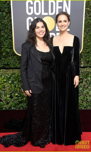 golden globe awards, golden globes 2018, moda, estilo, looks, inspiração, celebridades, tapete vermelho, fashion, style, outfits, gowns, inspiration, celebrities, red carpet, time's up, natalie portman, america ferrera