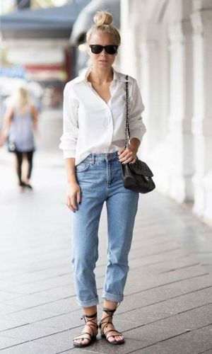 camisa e jeans, look descomplicado, look básico, clássico, moda, estilo, inspiração, fashion, style, inspiration, basic outfit, shirt and denim