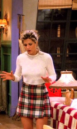 rachel green, jennifer aniston, friends, anos 90, looks, tendência, moda, estilo, trend, 90s, outfits, fashion, style, checkered, xadrez