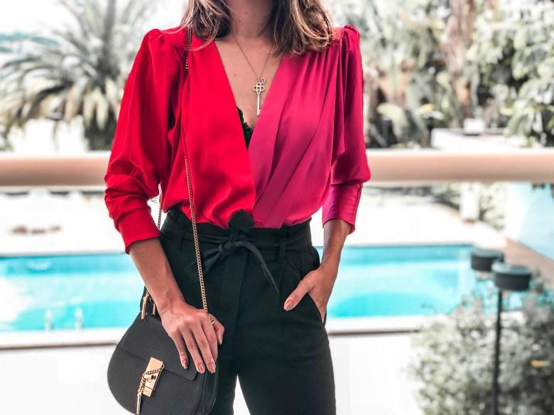 body rosa e vermelho, look do dia, gabi may, moda, estilo, tendência, pink and red, bodysuit, fashion, style, trend, ootd
