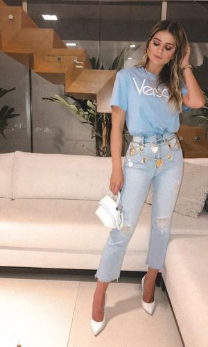 camiseta versace, logo, logomania, moda, estilo, tendência, looks, versace tshirt, fashion, style, trend, outfits, thássia naves