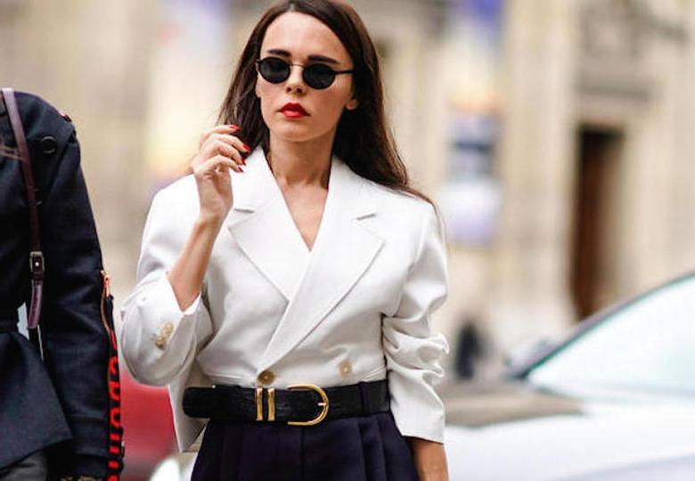 blazer para dentro, moda, estilo, look, inspiração, tendência, tucked in blazer, fashion, style, inspiration, outfit, trend, styling trick, truque de styling