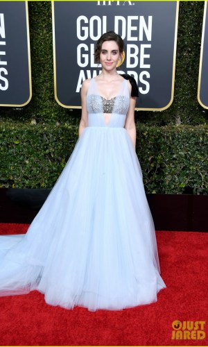 golden globes 2019, golden globes, awards season, red carpet, fashion, look, gown, tapete vermelho, premiação, moda, look, vestido longo, hollywood, alison brie