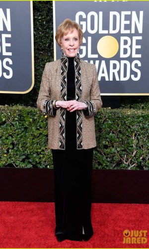 golden globes 2019, golden globes, awards season, red carpet, fashion, look, gown, tapete vermelho, premiação, moda, look, vestido longo, hollywood, carol burnett