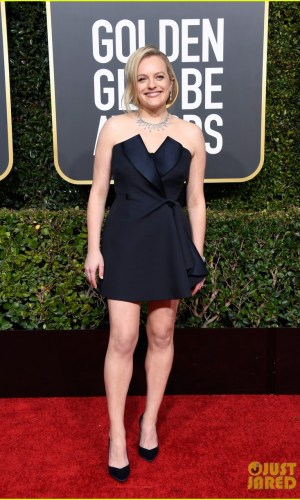 golden globes 2019, golden globes, awards season, red carpet, fashion, look, gown, tapete vermelho, premiação, moda, look, vestido longo, hollywood, elisabeth moss