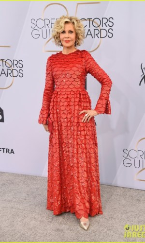 sag awards 2019, best dressed, mais bem vestidas, hollywood, moda, estilo, looks, fashion, style, outfits, jane fonda