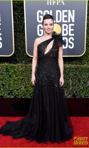 golden globes 2019, golden globes, awards season, red carpet, fashion, look, gown, tapete vermelho, premiação, moda, look, vestido longo, hollywood, linda cardellini