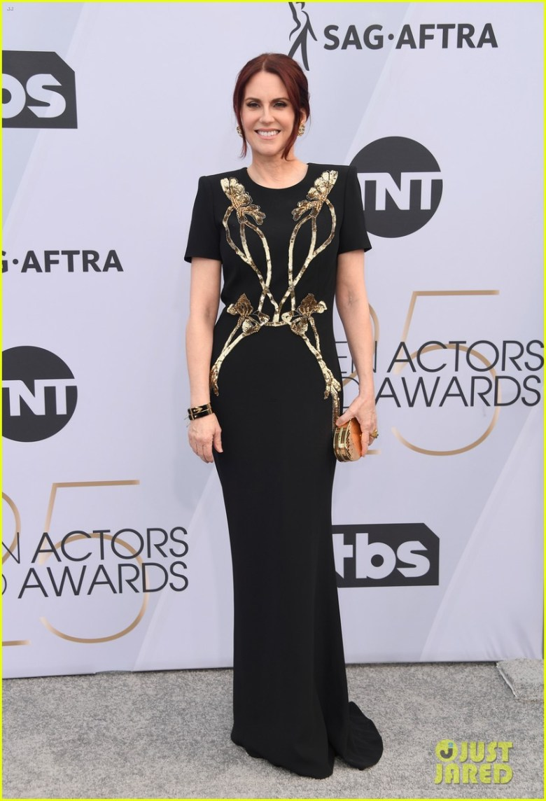 sag awards 2019, best dressed, mais bem vestidas, hollywood, moda, estilo, looks, fashion, style, outfits, megan mullally, alexander mcqueen