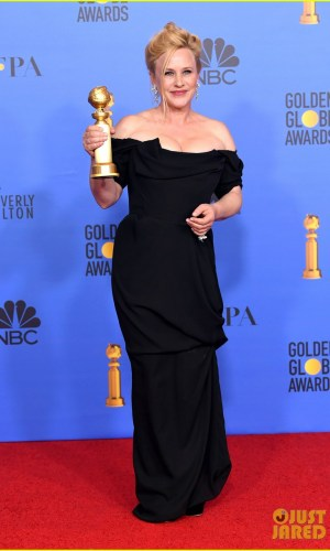 golden globes 2019, golden globes, awards season, red carpet, fashion, look, gown, tapete vermelho, premiação, moda, look, vestido longo, hollywood, patricia arquette