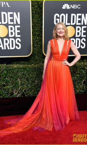 golden globes 2019, golden globes, awards season, red carpet, fashion, look, gown, tapete vermelho, premiação, moda, look, vestido longo, hollywood, patricia clarkson