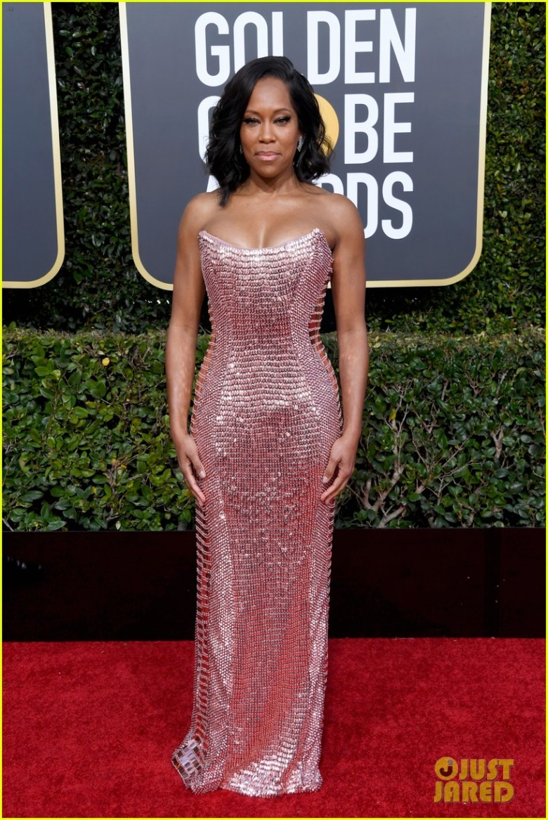 golden globes 2019, golden globes, awards season, red carpet, fashion, look, gown, tapete vermelho, premiação, moda, look, vestido longo, hollywood, regina king